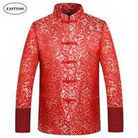 Rote seide jacke männer herbst winter 2016 drachen cheongsam tops plus größe 4xl traditionellen chinesischen clothing tang-anzug hochzeit jacke