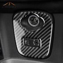 AMBERMILEfor Mini Cooper JCW F55 F56 аксессуары салона углеродного волокна прикуривателя USB AUX Панель консоль крышка Стикеры