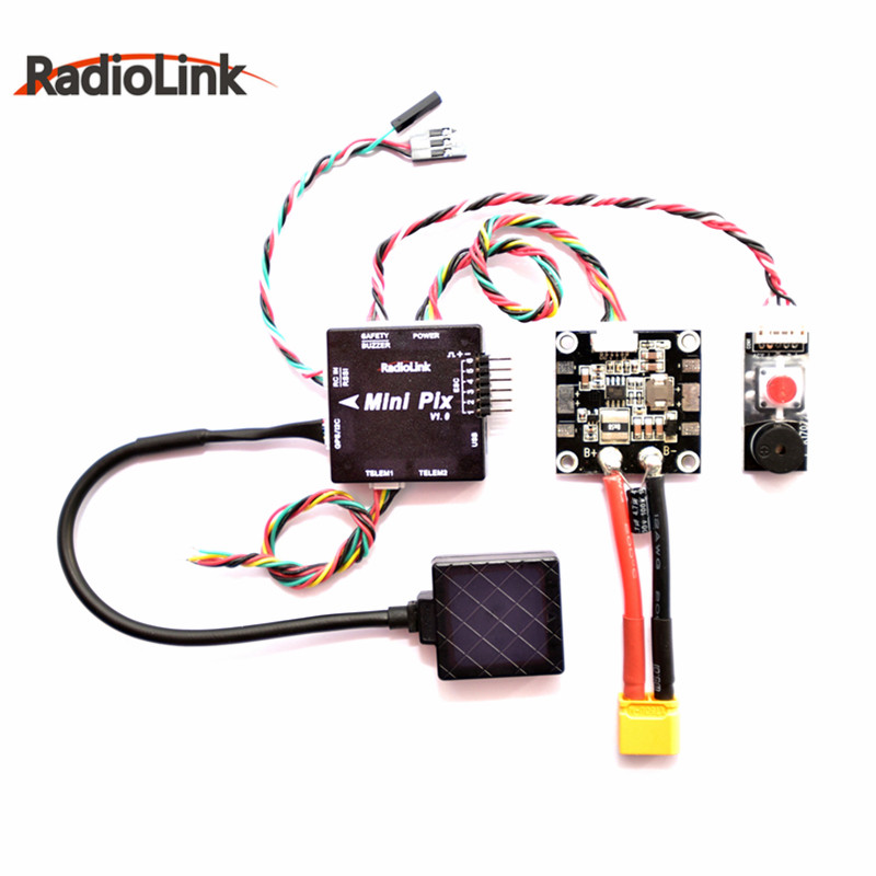 Hot New Radiolink Mini PIX F4 Flight Controller MPU6500 w/ TS100 M8N GPS M8030 For RC Drone FPV Racing Multirotor DIY Parts mini ublox neo m8n gps module with com pass for pixracer flight controller 45x45x10mm for rc multirotor parts diy toy accessory