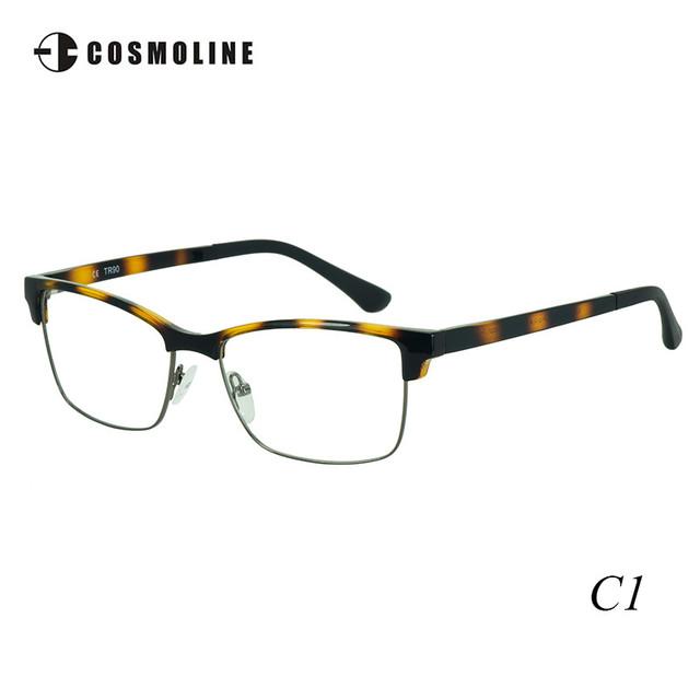 Cosmoline 2017 Nuevo Diseñador Medio Marco Ultraligero Miopía Marco de las Lentes TR90 Marco de los Vidrios para Las Mujeres de Las Mujeres 498