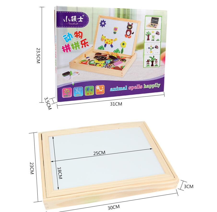 Wooden Magnetic Puzzle - Drawing Board Educational Toy | 100+ PCS 5