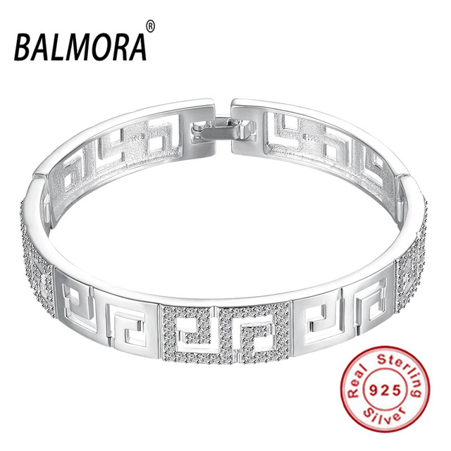 New Classic Authentic 925 Sterling Silver Jewelry Zirconia Charm Bracelets Bangles for Women Party Gift Free Shipping SVB011