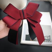 Элегантный для мужчин и женщин свадебный офис отель банк работа ленты галстук-платок Униформа студентка девушка бабочка ручной работы Красный булавка галстук-бабочка