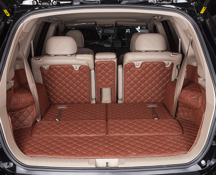 Good carpet! Special trunk mats for Toyota Highlander 7seats 2014 waterproof boot carpets for Highlander 2013-2009,Free shipping