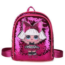 2019 New kid Outing Holographic Mini Backpack lol School Bag Surprise Girl Cute Rucksack Holographic Bag lol doll bag(China)