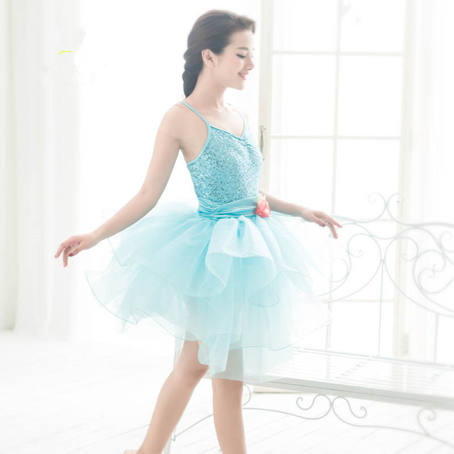 Blue Flower Romantic Professional Classic Bailarina Balet Dance Wear Ballet Ballerina Adult Tutu Skirts Adults Tulle