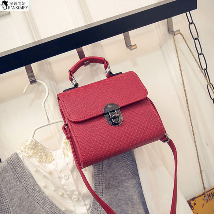 HANSOMFY  2015 New Korean Ladies Fashion Handbag Satchel Dragon Lock Bag Shaped Indentation