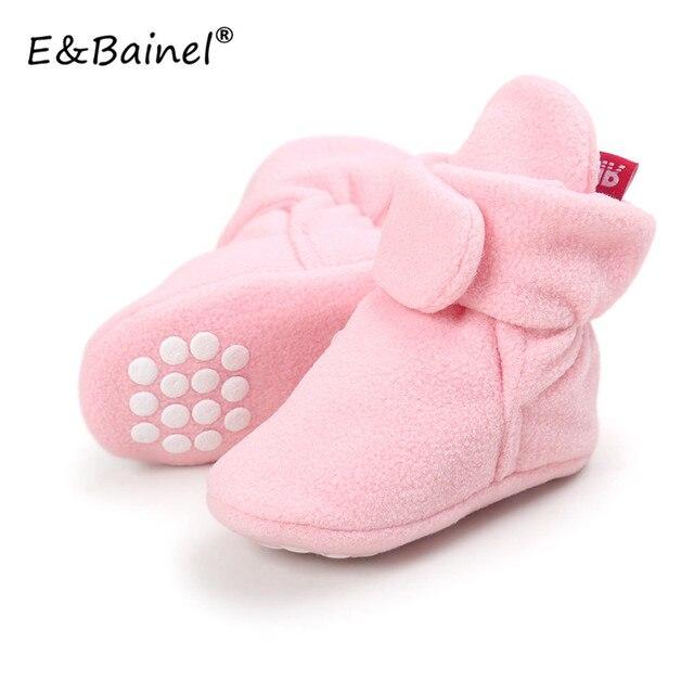Faux fleece recién nacido bebé Boot Primeros pasos invierno Zapatos de bebé  Infant Toddler Patucos Zapatillas 17f3ef687e93