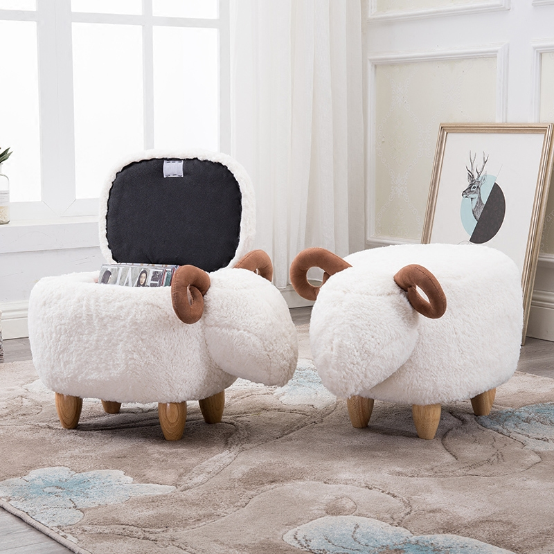 Hot Sale Organizador Storage Box Organizer Washable Sheep Stool Footstool Household Stool Europe Sundries Eco friendly