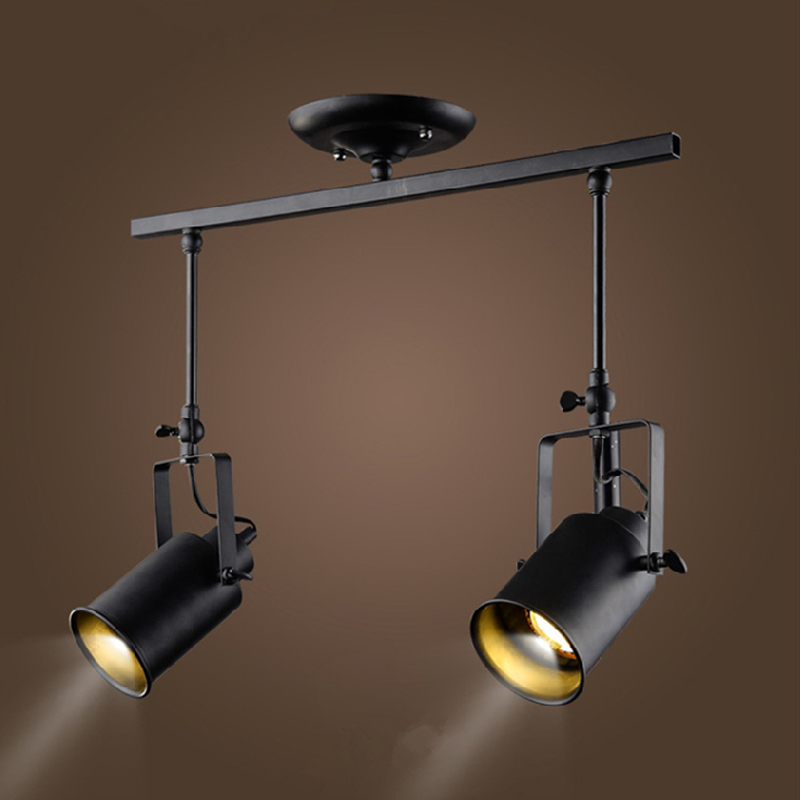 Us 44 64 20 Off Loft Vintage Led Track Lights Wrought Iron Ceiling Lamps Clothing Bar 5w Spotlight American Style Rod Spot Lighting In