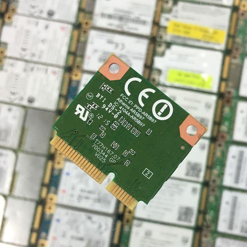 Atheros AR9287 AR5B97 802,11 b/g/n 150 Мбит/с Wifi Беспроводная Половина мини Pci-e карта ноутбук внутренняя Wi-Fi BGN WLAN сеть