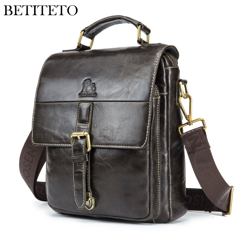 Betiteto Brand Genuine Leather Handbags Messenger Bags Men Tote Bags Sacoche Homme Sling Shouler Bag Male Sac A Main Pochette business handbags men designer multi layer square sling bag large travel vintage real leather tote for men soft sacoche homme