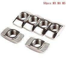 50Pc M3/M4/M510 * 6 per 20 serie T dado Slot t nut scorrevole TNut Hammer Drop In dado fissare connettore durezza ad alta resistenza