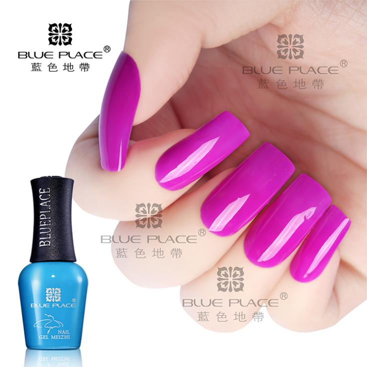 5 Bottles Blue Place Nail GEL 16ml UV LED Ballet Gel 88 Colors Pure ...