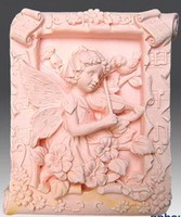 Silicone soap mold Violin girl shape fondant cake chocolate clay mould wholesale mould tools