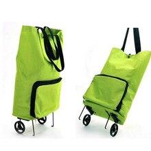 NEW reusable shopping bag oxford shopping trolley bag on wheels bags on wheels canvas shopping bag