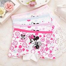 Girl Underwear Pant Briefs Kids Printing Children 4pcs/Lot Lattice