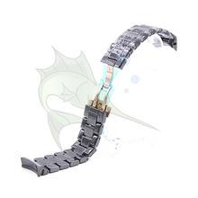 High End Керамика ремешок для часов черный Цвет браслет с застежкой-бабочкой Керамика ремешок для наручных часов AR1410 AR1400, 22 мм Керамика ремешок для часов