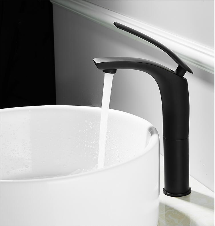 Bathroom Basin Faucet White and Black Baking Solid Brass Specail Sink Mixer Tap Hot Cold Waterfall Bathroom Basin Faucet White and Black Baking Solid Brass Specail Sink Mixer Tap Hot & Cold Waterfall Basin Faucet Free Shipping