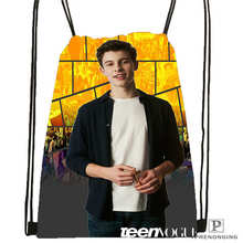 Custom Shawn Mendes @1 Drawstring Backpack Bag Cute Daypack Kids Satchel (Black Back) 31x40cm#2018612-01-33