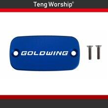 Aluminum Motorcycle Brake Fluid Fuel Reservoir Tank Cover Cap FOR HONDA Goldwing 1500 88-00 1800 01-12 Valkyrie 97-03