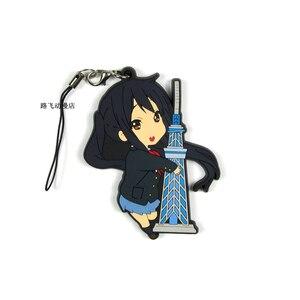 Image 5 - K ON Hirasawa Yui Akiyama Mio Tainaka Ritsu Nakano Azusa Yamanaka Sawako Action Figure Anime Model Rubber Keychain Pendant 6cm