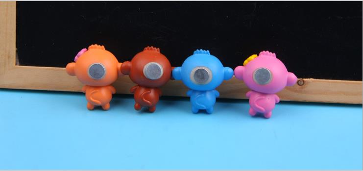 CUTEHORSE 4pcs/set Cartoon creative cute monkey cartoon creative 3D fridge magne