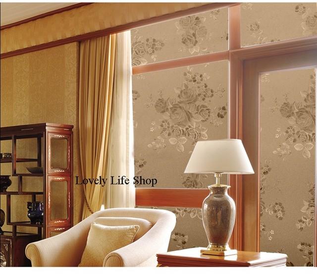 200 Cm * 90 Cm Wohnzimmer Peeling Fenster Film Schiebetüren Film Dekorative  Fenster Film Dekoration