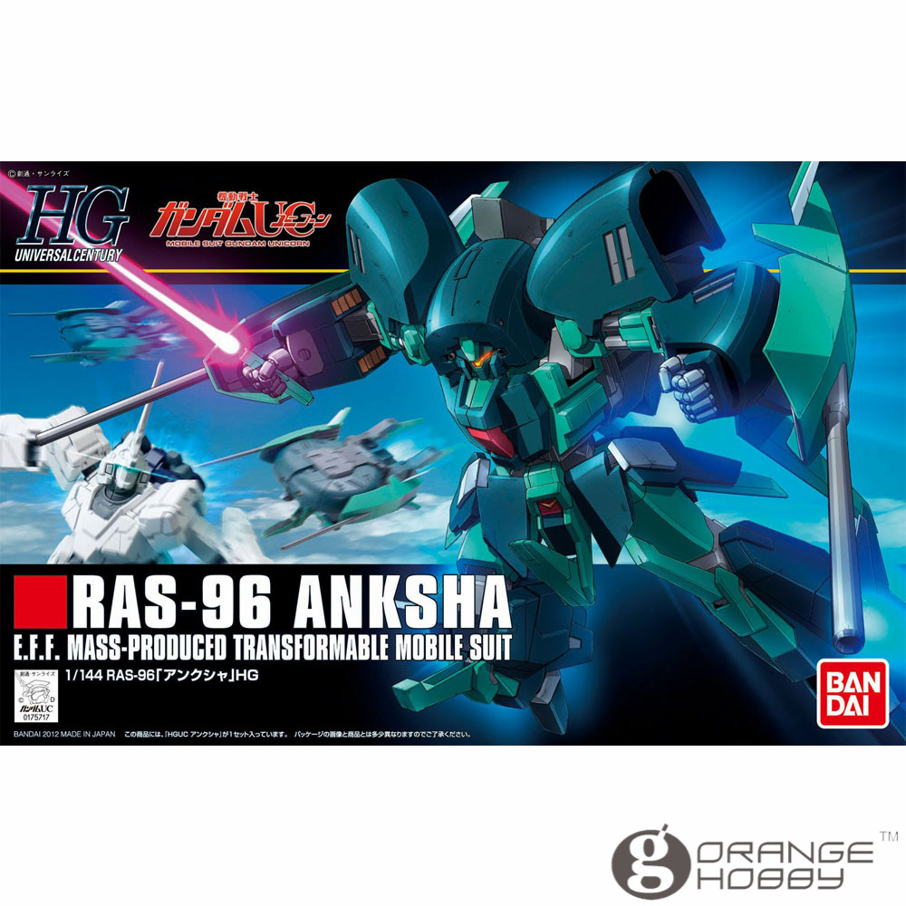 OHS Bandai HGUC 141 1/144 RAS-96 Anksha Mobile Suit Assembly Model Kits free shipping lamtop projector bare lamp bulb lmp c121 for vpl cs3