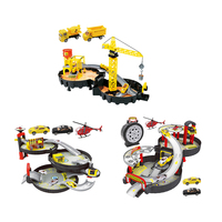 Kids Spiral Roller Rail Alloy City Parking Garage Toy City Car Truck Auto 2/3 Play Set Tire Carrying
