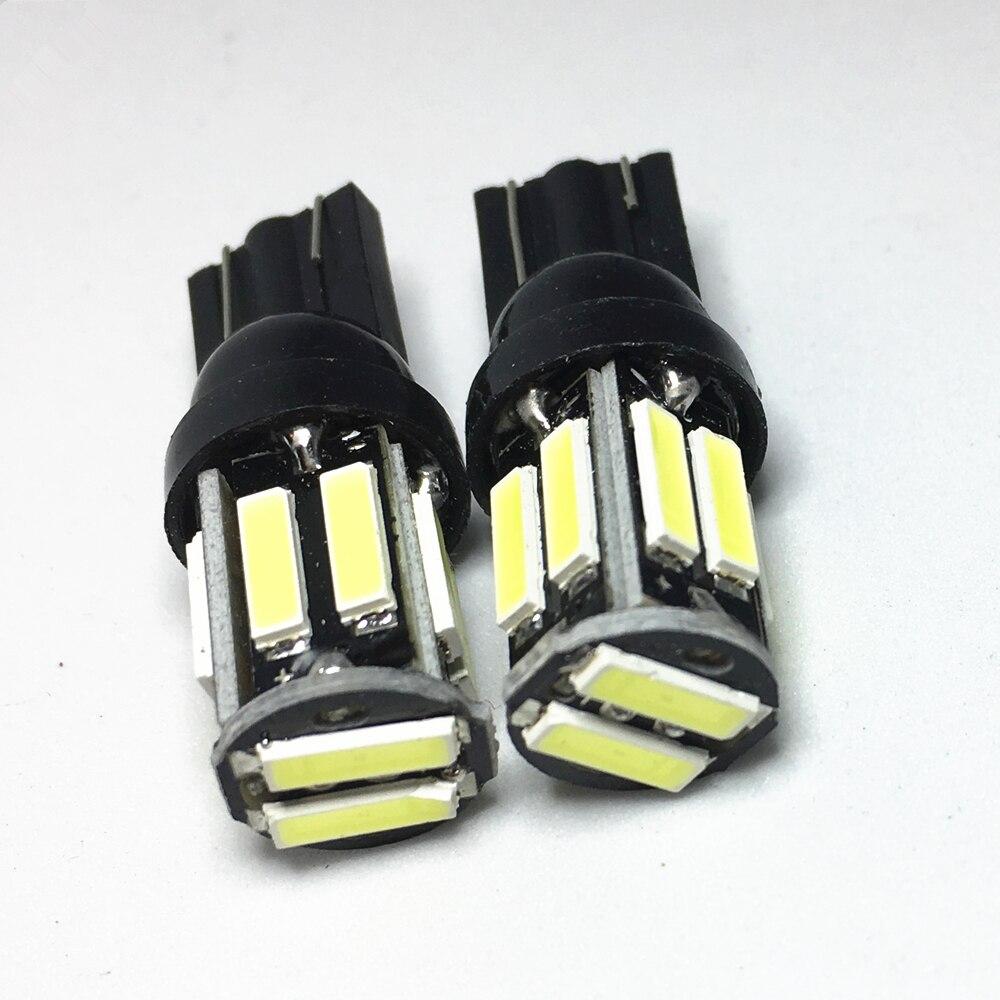 2 шт. W5W 7020 10 SMD Автомобильные T10 Светодиодные белые синие лампы для габаритных огней 194 168 сменная панель для заднего инструмента|Сигнальная лампа|   | АлиЭкспресс