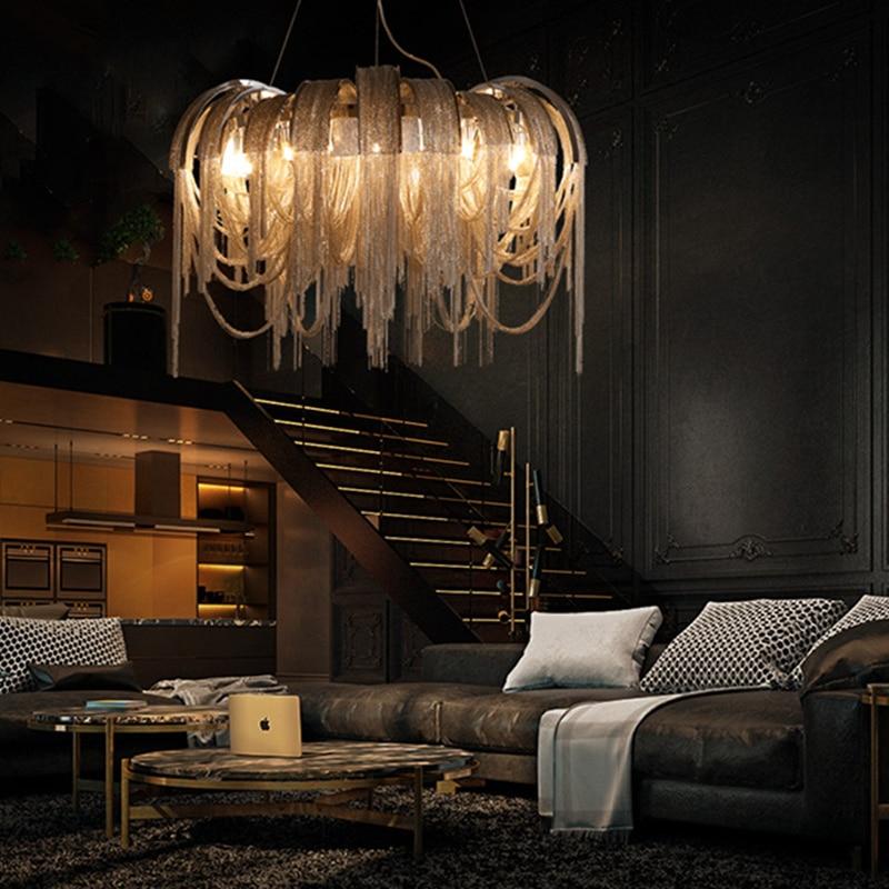 Yeni Tasarım İtalya Alüminyum Zincir Püskül Kolye Işıkları - İç Mekan Aydınlatma - Fotoğraf 5