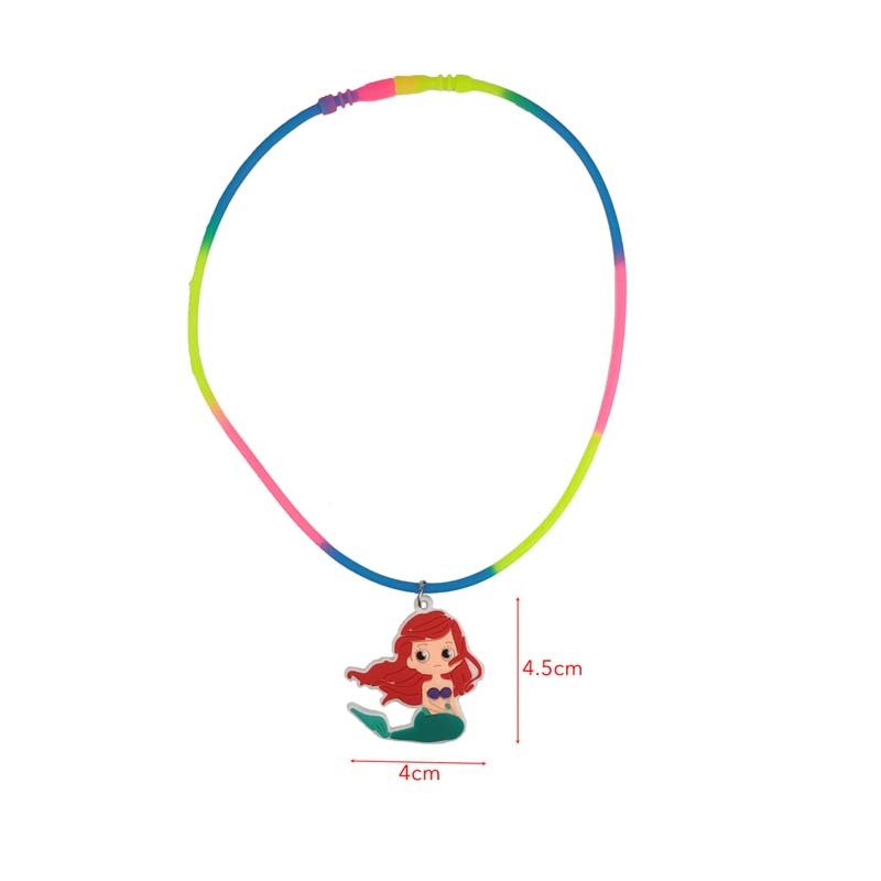 1pc Little Mermaid Party Favor Necklace Let 39 s be Mermaid Girl Birthday Party DIY Decoration Present Personalized Gift For Guest in Party Favors from Home amp Garden