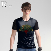 2017 Silk T Shirt Men Summer Honorable Mens Fashion 3D Tshirt Casual Short Sleeve O Neck