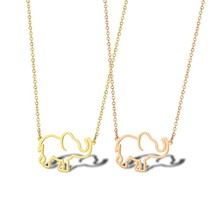 Dainty Gold Baby Elephant Lucky Charm Necklace Animal Pendant Jewelry Best Friendship Necklaces For Her