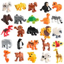 Model zwierzęcia figurki kompatybilne LegoINGlys Duploed duże klocki do budowy diy kreskówka cegły edukacyjne dla dzieci tanie tanio KACUU Certyfikat 201901181639 DZ-PJ-99 Not for children under 3 years Unisex 3 lat Bloki Plastic