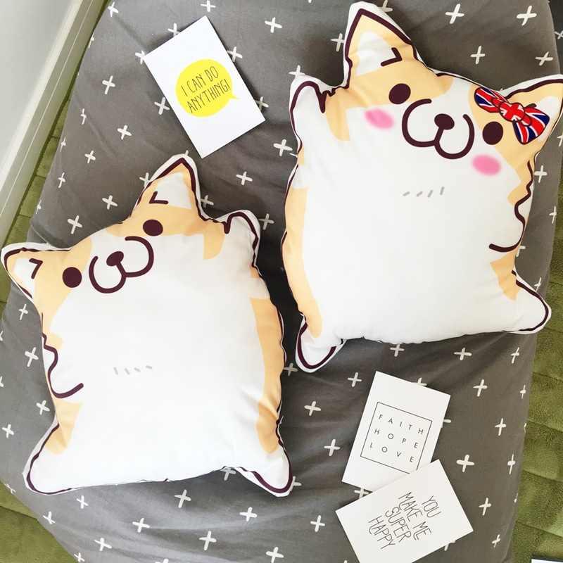 ¡Candice guo! Super lindo juguete de peluche anime pareja cachorro gordo Shiba perro cojín cintura almohada amante cumpleaños regalo de Navidad 1 pc