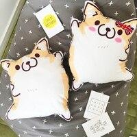 Candice Guo Super Cute Plush Toy Anime Couple Fat Corgi Pet Shiba Dog Cushion Waist Pillow