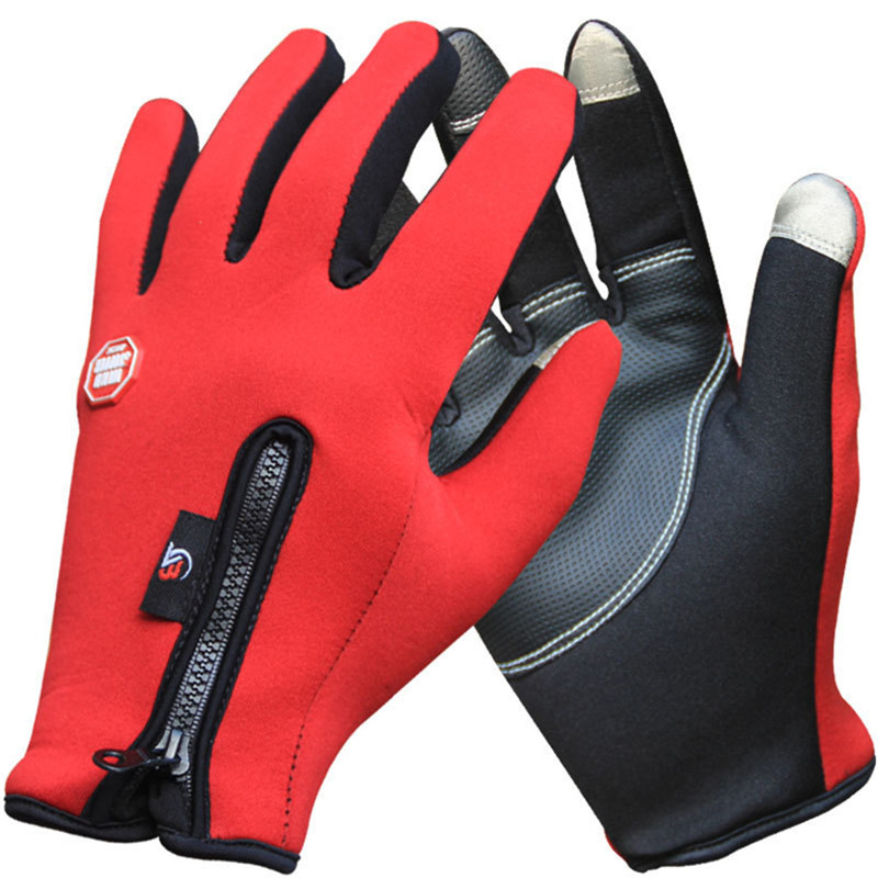 Winter Thermal Windproof Sports Gloves Mountain Bike Bicycle Gloves for Man Woman Long Finger Cycling Glove AC0092 body building sports cyling half finger gloves for women black red