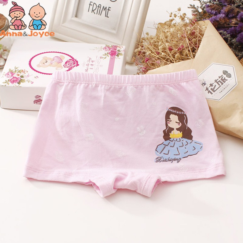 Underwear 2pcs 100% Cotton Girls Underwear Cartoon Boxers Girls Underpants Bottoms Girls Clothes For 3 4 6 8 10 12 Years Old Rku173002