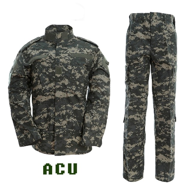 Black Military Uniform Camouflage Suit Tactical Military Airsoft Paintball Equipment Clothes 6