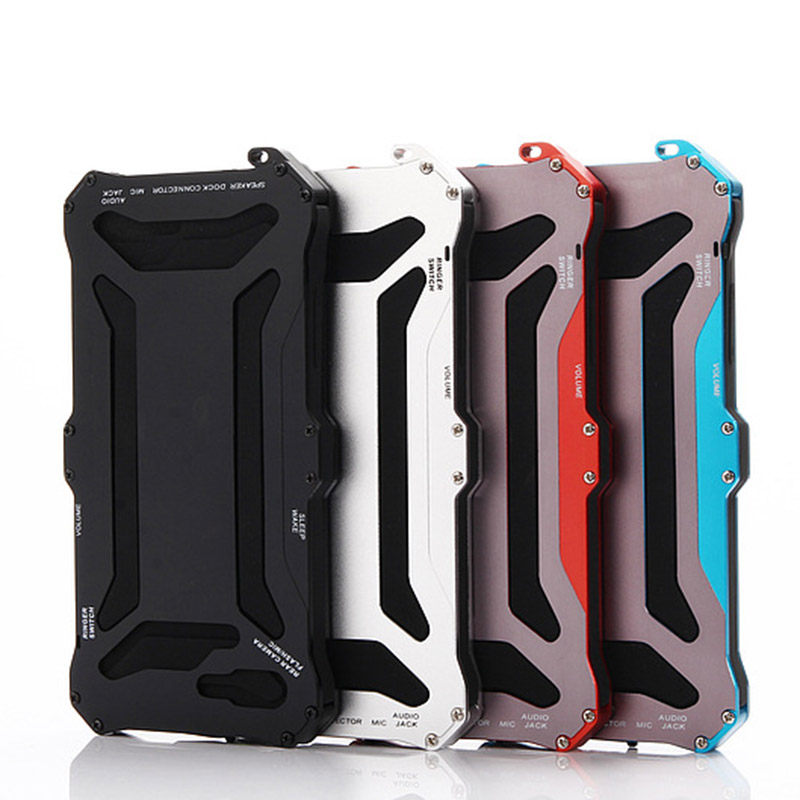 For <font><b>iPhone</b></font> 8 Waterproof Shockproof Aluminum Metal Gorilla Glass Case Cover For Apple <font><b>iPhone</b></font> 8 plus 7 7 plus 5.5 inch