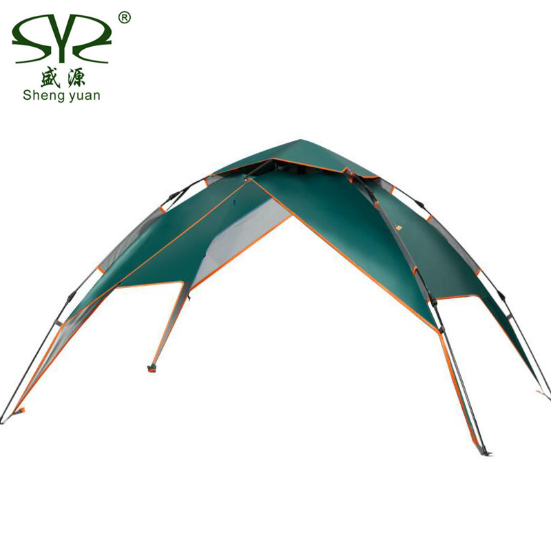 Outdoor Camping Tent Automatic Awning Waterproof Double Layer 3 People Tents For Outdoor Recreation Beach Tourism Gazebo in Tents from Sports Entertainment