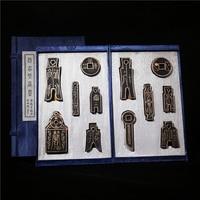 Chinese Ink Stick Set Chinese Collection Ink Stick Hui She Laohukaiwen Chinese Calligraphy Sumi Ink Ancient Chinese Money Shape