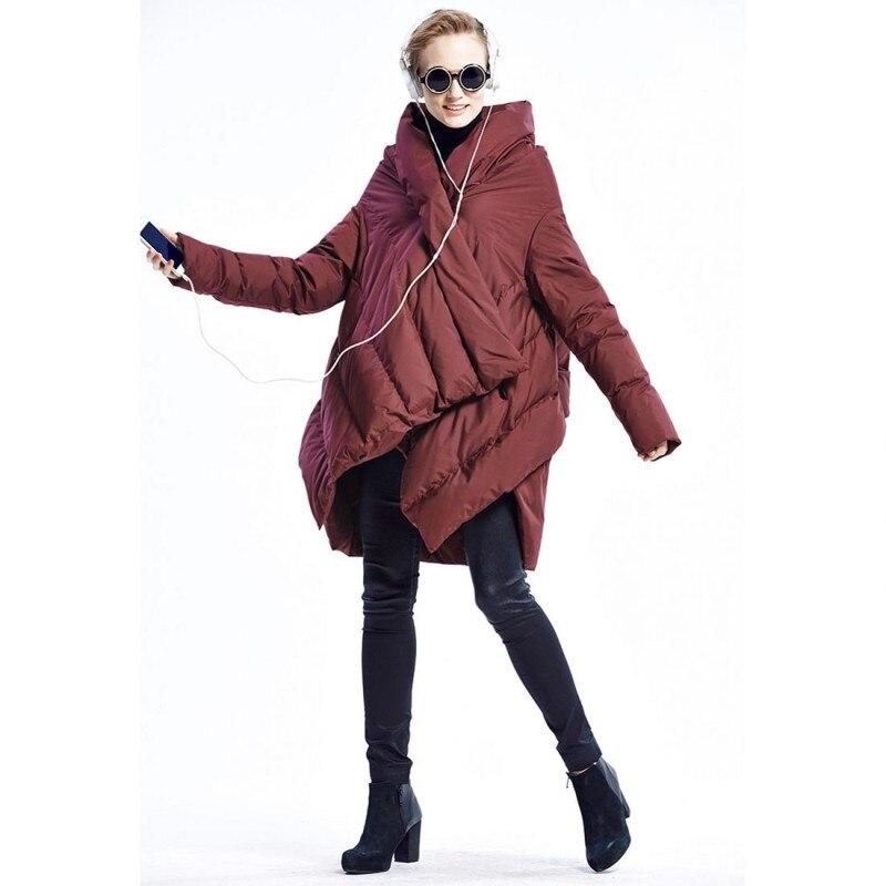 Harajuku Cloak Puffer Down Jacket Women Hooded Full Sleeve Ultra Lightweight  Warm Down Coat Female Streetwear Parka Outwear New d9d5da55bd92