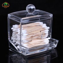 Msjo Makeup Organizer Cotton Swab Box  Acrylic Storage Cosmetic Home Desktop Transparen Holder
