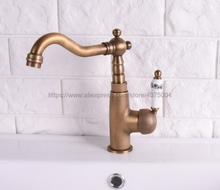 Kitchen Faucets Antique Brass Faucet for Kitchen Mixer Tap Cold And Hot Kitchen Sink Tap Nsf112