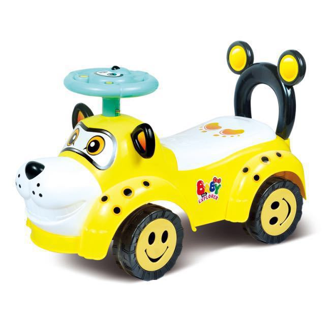 Enfants twist voiture modèles animaux avec musique glissière yo bébé à quatre roues bébé poussette jouet