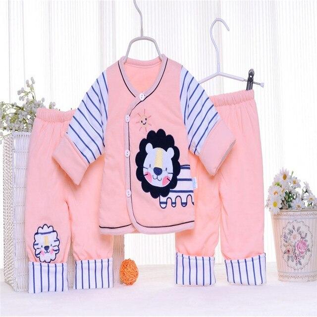 Fashion 2016 New Baby Boy Cotton Clothes Children Clothes Sweet White Cartoon Kids Girls Love Nightwear Pajamas Sleepwear Suit