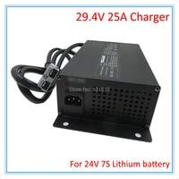 900W 24V 25A Charger 29.4V 25A li ion battery charger Input 100 120V Or 220 240V For 7S 24V lithium battery pack